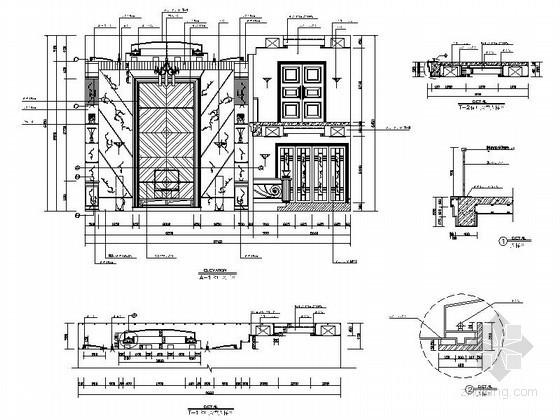 豪华别墅客厅装修CAD详图