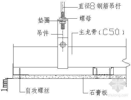 纸面石膏板吊顶的裂缝控制(QC)