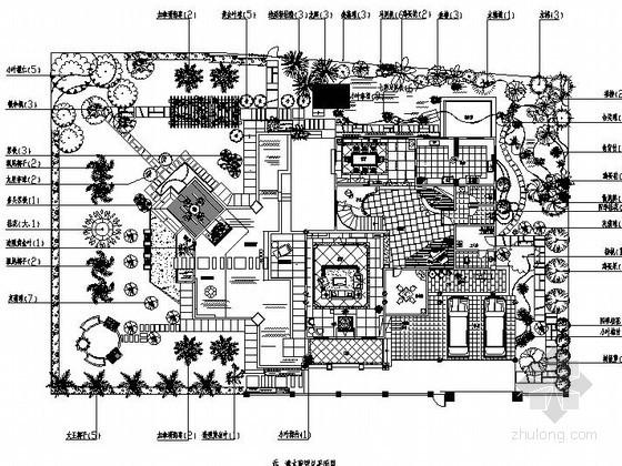 别墅庭院景观工程完整施工图