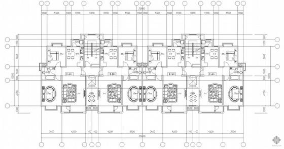 板式高层一梯二户户型图(108/108)