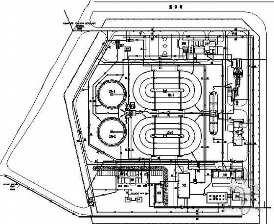 氧化沟工艺全套图纸(3.5万吨)-总图