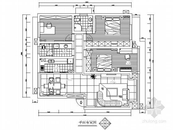 [株洲]某雅苑小区三室两厅装修图(含效果图)