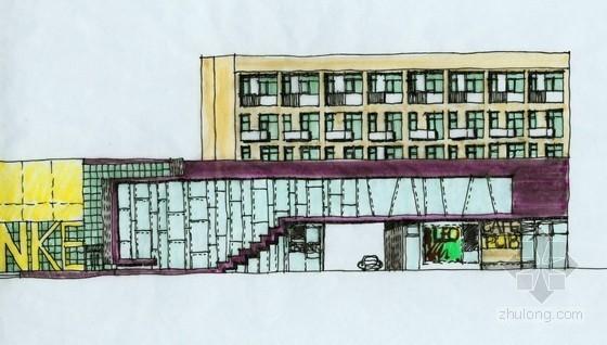 [成都]某城市花园低层商业街建筑方案文本(含PSD)