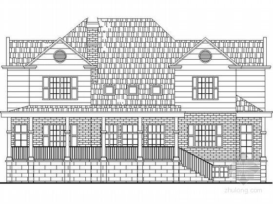 某二层美式别墅建筑扩初图(带地下室)