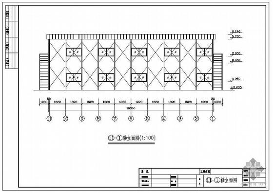 某活动板房建筑结构设计图