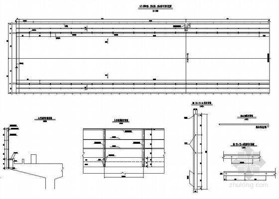 (32+32+32)m双线连续梁人行道栏杆及检查梯布置节点详图设计