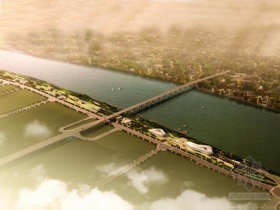 [广西]青年主题旋律沿江景观带规划设计方案