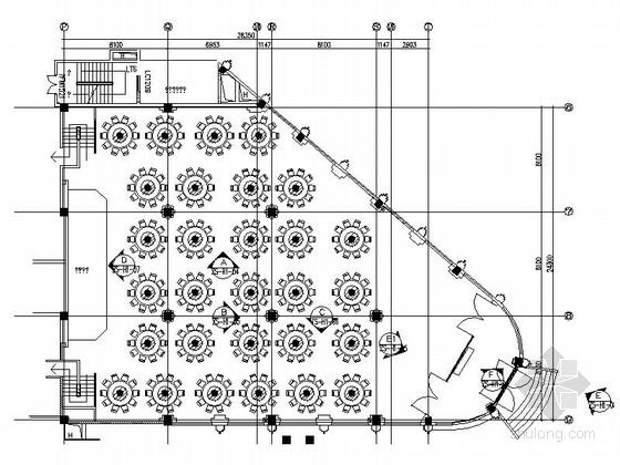 [烟台]商贸城五星级酒店婚宴大厅及豪华包间装修施工图