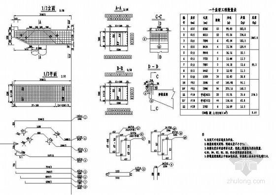 2×8米钢筋混凝土空心板桥墩盖梁钢筋构造节点详图设计