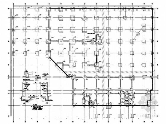 [重庆]22层框架剪力墙结构重点大学办公楼结构施工图