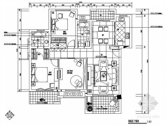 花园洋房时尚现代三居室样板房设计装修图