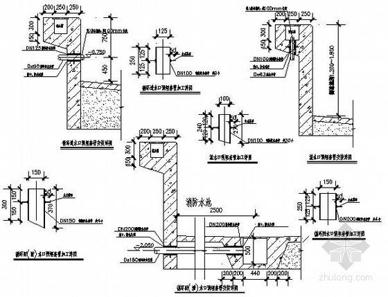 游泳池附件安装施工图