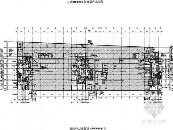[江苏]广场商住楼通风防排烟设计施工图(4栋楼)