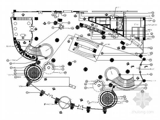 [成都]五星级豪华酒店大堂室内装修施工图(含实景)
