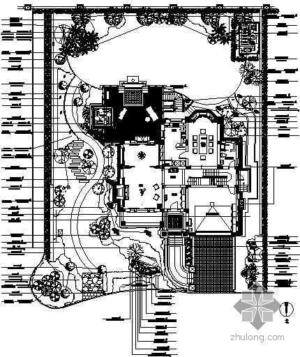 上海某别墅区庭院绿化设计施工图