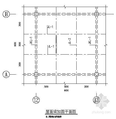 [实例]某厂房屋面梁加固工程预算书(附图纸)