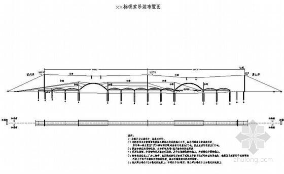 悬索桥上构缆索吊装布置节点详图设计