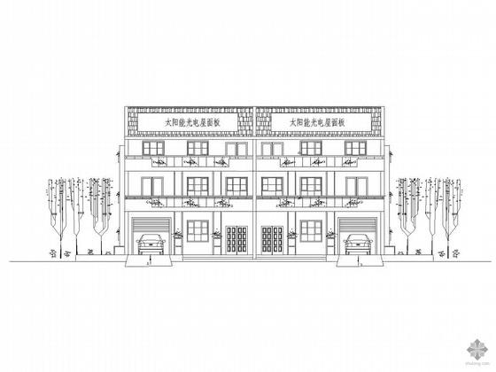 [新农村]三层独院式农村住宅方案图