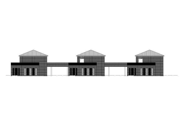 [河南]高校校园商业街建筑设计施工图(CAD)