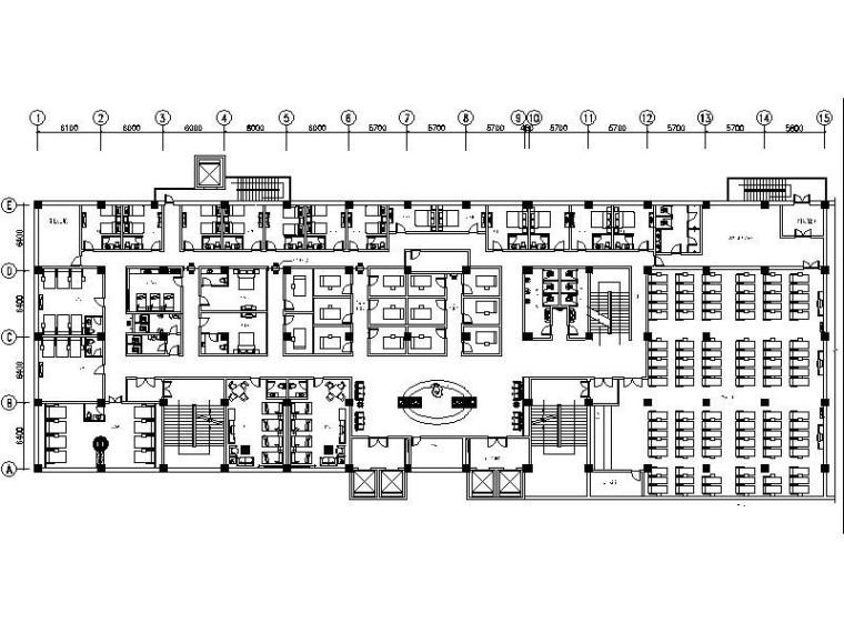 精装休闲娱乐主题酒店室内设计施工图-精装休闲娱乐主题酒店室内设计平面图
