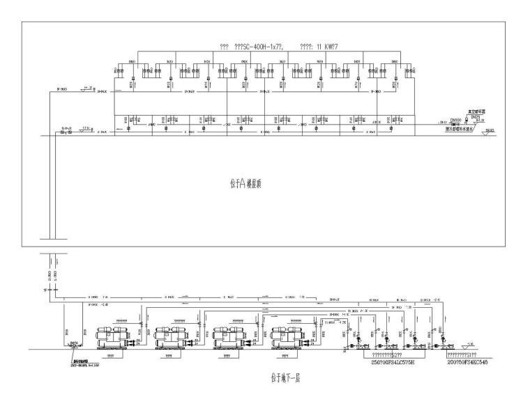 [杭州]大型科技园区8栋单体建筑给排水消防施工图187张(含人防)
