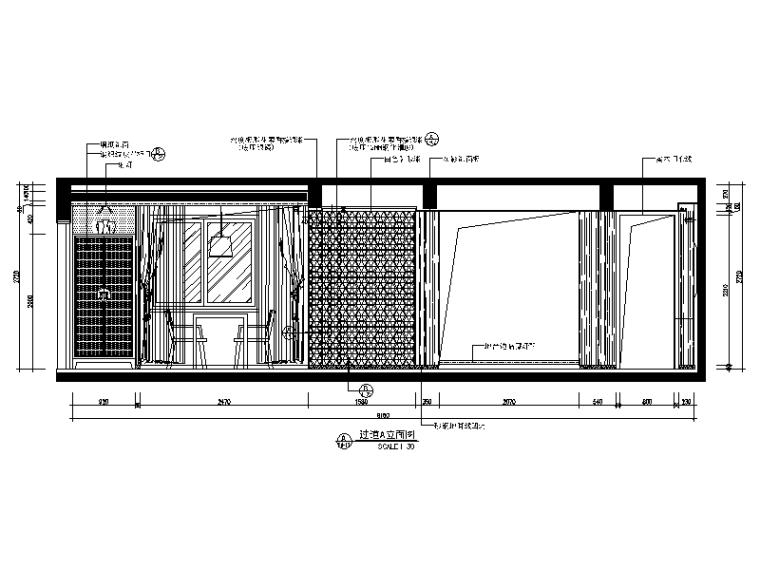 【广东】现代中式风格别墅设计CAD施工图(含效果图)_8