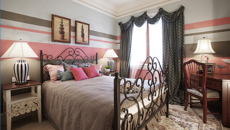 保利高尔夫花园别墅四期室内设计施工图(含实景图)-次卧室实景图图