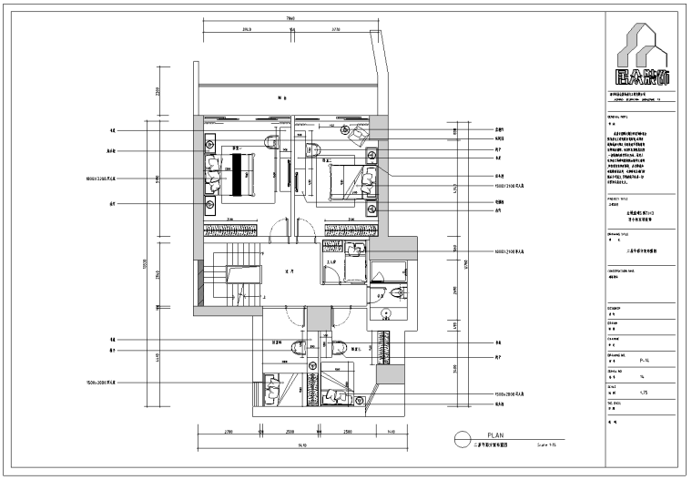 金域蓝湾欧式三层别墅施工图