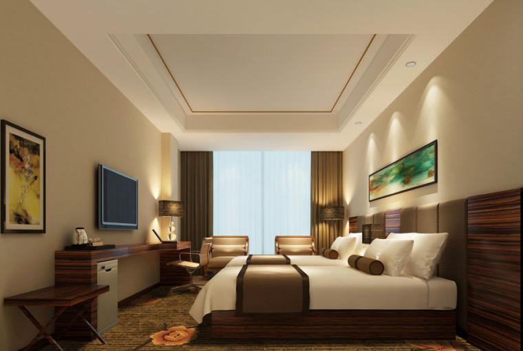 (原创)宾馆客房.酒店客房设计案例效果图