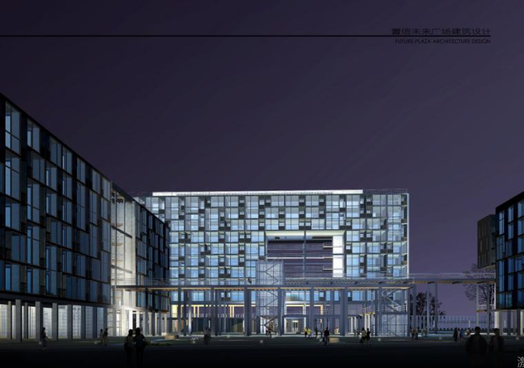 超高层现代风格未来广场项目建筑设计方案文本(含CAD)_4
