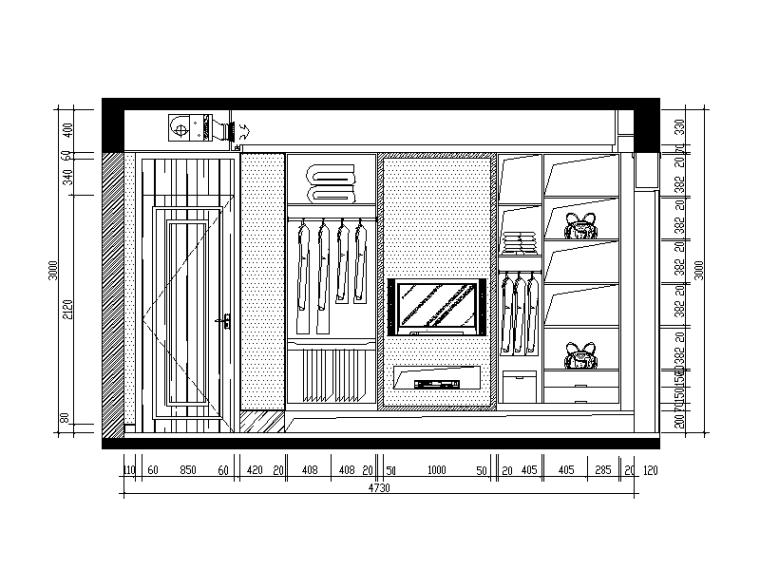 现代中式风格别墅设计CAD施工图(含效果图)_4
