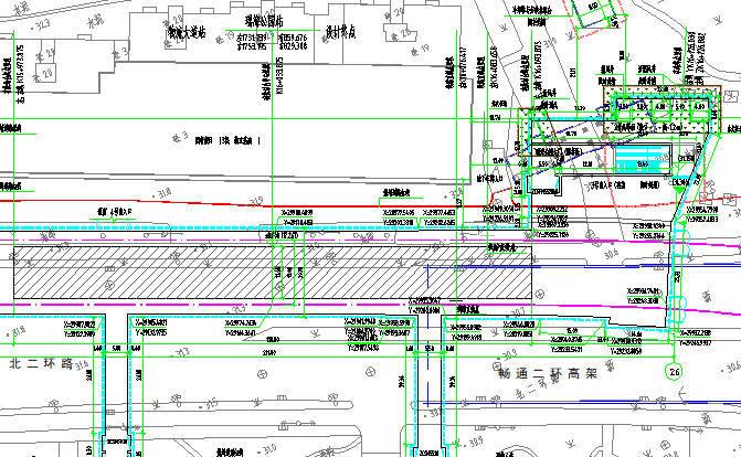 地铁隧道区间及车站施工图纸合集(共1824张)-三号车站平面布置图