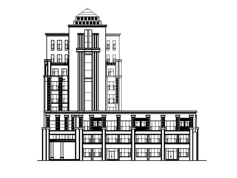 [宁夏]简欧风格值班办公室建筑施工图(含效果图)