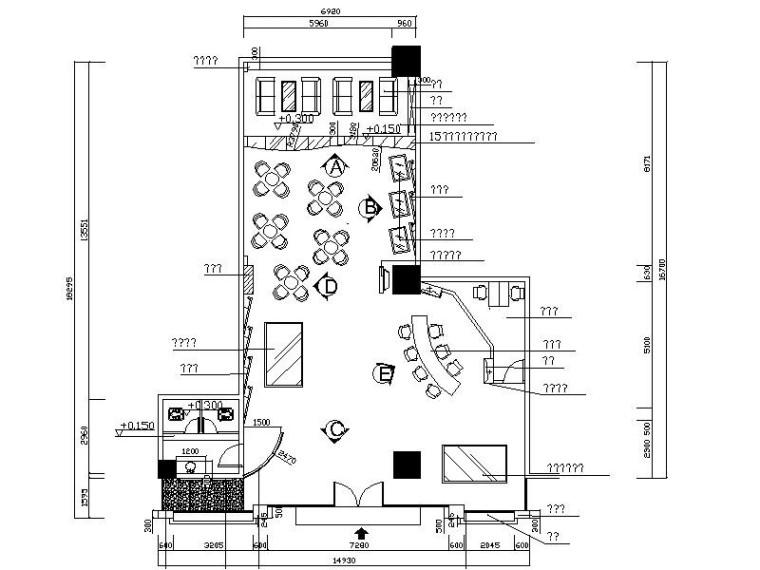 [东莞]精品现代简约售楼处大堂室内设计施工图