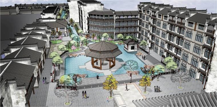 """[湖南]""""一步一景""""江南古城景观规划设计方案"""