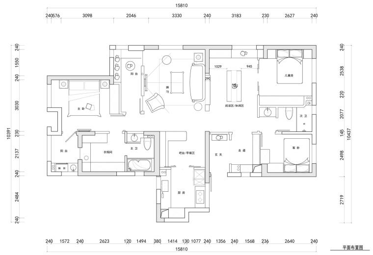 [武汉]水岸国际—默·片住宅设计施工图及效果图
