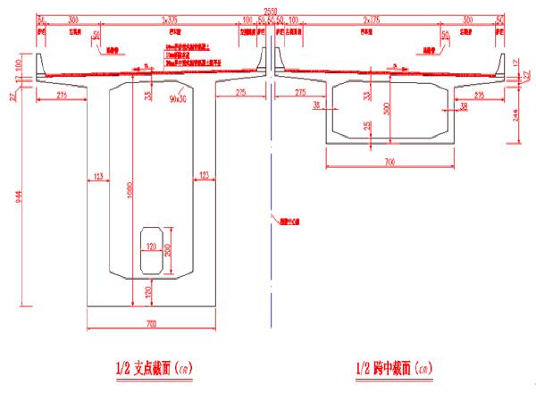 桥梁初步设计与连续梁桥结构设计