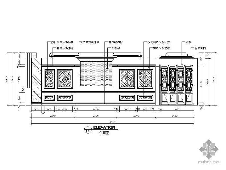 欧式大厅cad资料下载-欧式大厅立面图