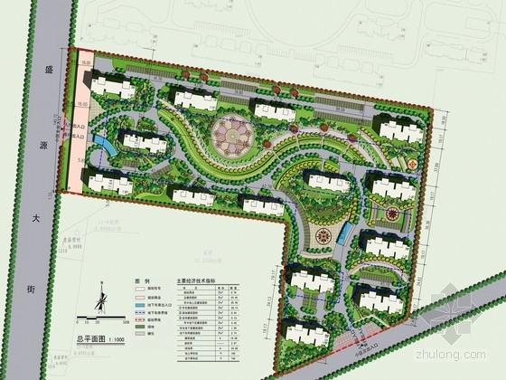 [河北]高档住宅小区景观规划设计方案(含CAD图纸)