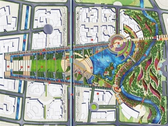 [成都]现代生态都市新城中央公园景观规划设计方案