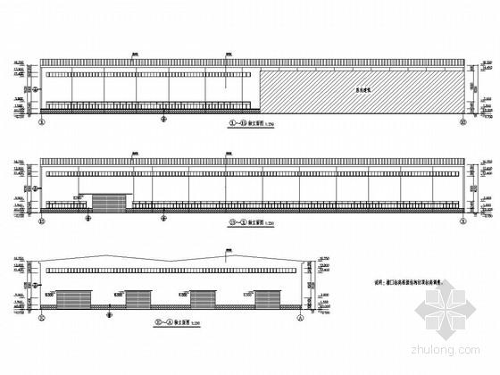 75t(20t)吊车钢结构厂房结构施工图(含建筑图)