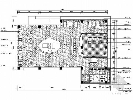 [湖北]简约现代黑白风格售楼处室内设计装修施工图(含效果)