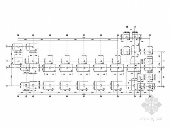 [湖南]四层框架结构小学体艺教学楼结构施工图