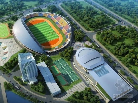 [山东]型钢混凝土柱框架结构大型体育馆初步结构设计(2016出图)