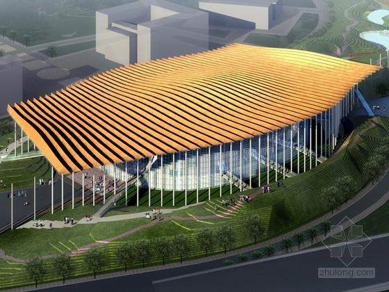 [北京]3层现代风格体育馆建筑设计方案文本(含cad 附图丰富 资料齐全)