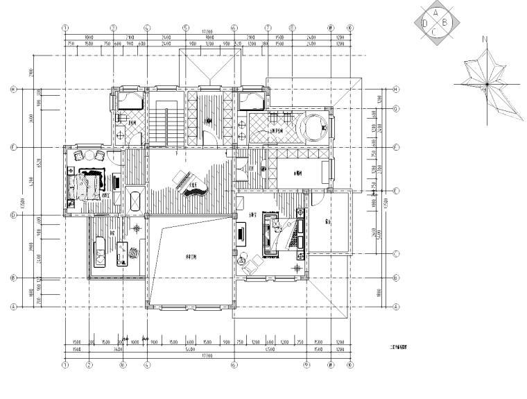 [江苏]某欧式别墅室内设计详细施工图