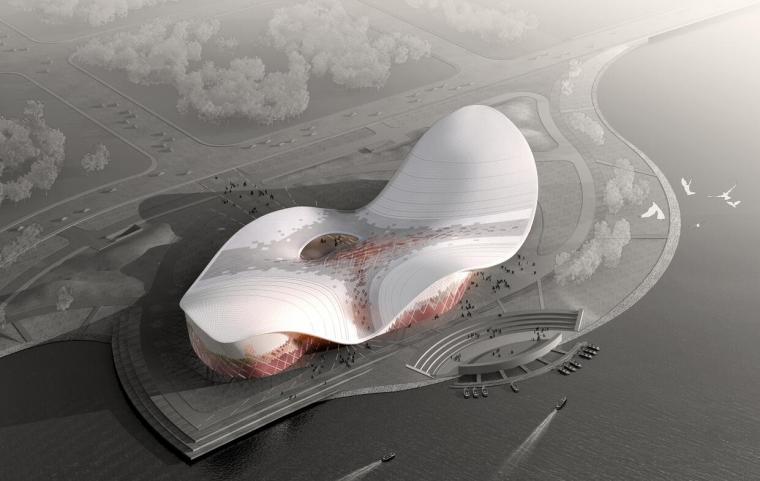 镇江某文化艺术中心文体建筑方案设计文本(CAD+SU+文本)