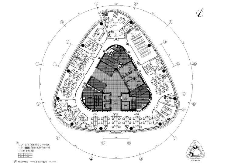 [南昌]新力置地·南昌朝阳新城办公楼CAD装修施工图