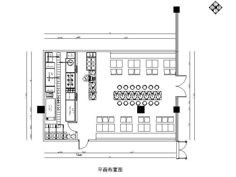 [湖北]一套详细完整的快餐店设计施工图(含效果图)