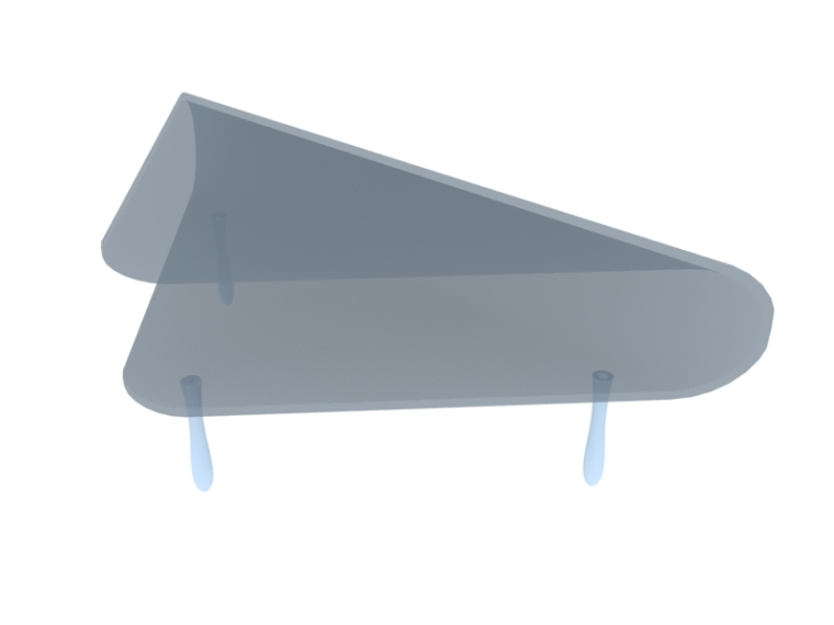 三角形玻璃茶几3D模型下载